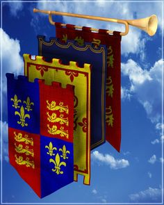 Merlin's Medieval Banners Props/Scenes/Architecture Themed Merlin_Studios