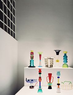 Ettore Sottsass, Glass and Metal Works, for Memphis