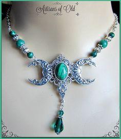 Dreifach-Mond Göttin Halskette Pagan Wicca von ArtisansofOld