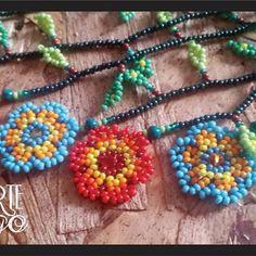 Collar Okama raíz https://www.facebook.com/arteindigo.co/  Whatsapp: 3012251255 #collares #collar #okama #artesanía #art #mostacilla #visuteria #joya #ancestral #prenda #artesanias #huícholt