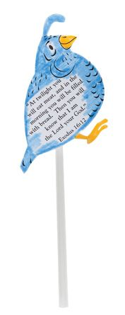 """Quail Blowers from Guildcraft Arts  Crafts! Kids will have a blast making and then """"sending"""" the quail into the air (using the straws) to the Israelite's camp."""