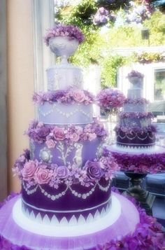 lavender ombre wedding cake, Wedding Accessories, spring wedding ideas #2014 Valentines day ideas #rustic wedding ideas www.dreamyweddingideas.com