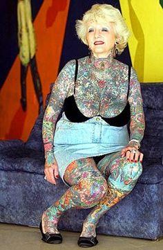 Tattoed granny