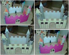 Jednoduchý hrad / zámek na hraní z papíru pro kluky i pro holky Toddler Bed, Halloween, Diy, Furniture, Home Decor, Castles, Child Bed, Decoration Home, Bricolage