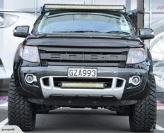 """USA """"Raptor style"""" grill to suit Ford Ranger Ford Raptor Truck, Ford Pickup Trucks, Lifted Trucks, Ford Ranger 2014, Ford Ranger Raptor, Ford Rapter, Ford Ranger Wildtrak, Yamaha Cafe Racer, Cool Car Accessories"""