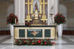 Decoración en Rojo Altar