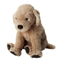 Ikea GOSIG GOLDEN Stuffet Plush Puppet Animal Soft Toy Puppy Dog, Yellow, 15.75 Inch