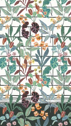 winter garden floral - irina muñoz clares   fashion graphics + illustration