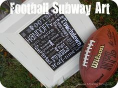 Football art, have the kids sign the mat around for a coach gift?