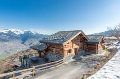 Chalet for Sale in Switzerland. Masterpiece at the Edge of the Mountain ⛰️ See more on our Website. Chalets For Sale, Swiss Alps, Switzerland, Mountain, Real Estate, Cabin, Website, House Styles, Beautiful