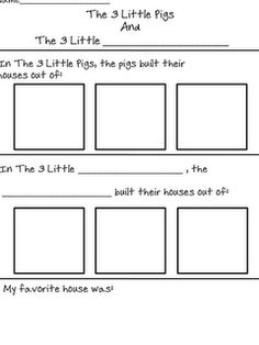 Compare and contrast The Three Little Pigs and a similar story