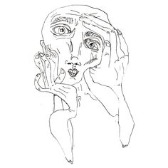 A self portrait Funky Art, Art Hoe, Hippie Art, Wow Art, Weird Art, Psychedelic Art, Art Drawings Sketches, Surreal Art, Art Plastique