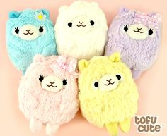 Pastel Alpaca Plush Multi-Purpose Case