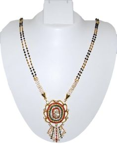 Imitation Gold Plated Long Traditional Mangalsutra Necklace / AZMNGT012-GRG Arras Creations http://www.amazon.com/dp/B00IZZTI2I/ref=cm_sw_r_pi_dp_3XEQub043JW9P