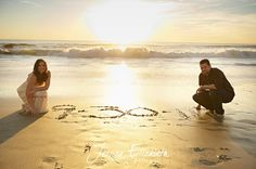Elopement photo on the beach