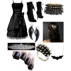 """Gothic princess"" by hayleycavanaugh on Polyvore"