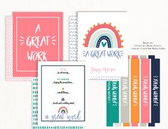 Young Women Handouts, Newsletter Template Free, Small Flags, Birthday Tags, Book Markers, Binder Covers, Printable Invitations, Note Cards, Girls Camp