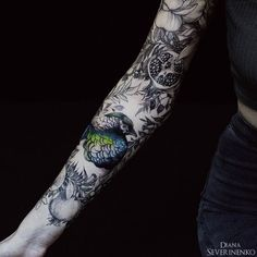 Colored pheasant full sleeve by Diana Severinenko