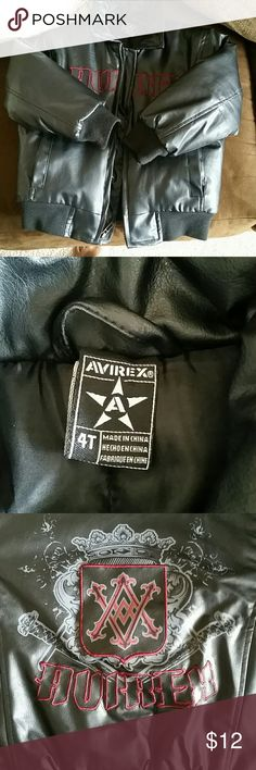 Kids/Boys/Toddlers AVIREX Leather Jacket (Size 4T) Good condition.  Puffy on the inside. AVIREX Jackets & Coats Puffers