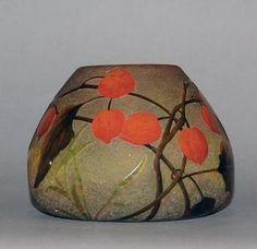 Daum Nancy Antique French Cameo Glass Vase Signed ...... via mahala knight