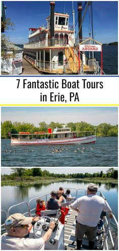 Thanks to the city's location on Lake Erie, there are many great boat tours in Erie, PA and around Presque Isle State Park. Whether you are looking for a relaxing and informative ride, a chance to learn more about sailing, or just the opportunity to enjoy the water, there's a tour for everyone in this northwestern PA city.