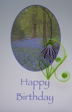 Quilled bluebell