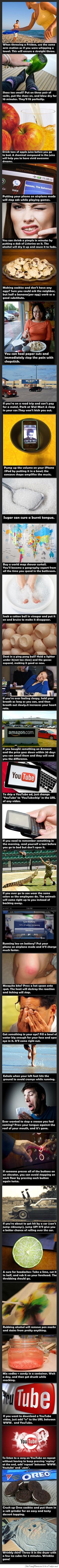 Life hacks from the internet