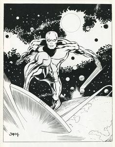 "browsethestacks: ""Silver Surfer by Barry Windsor-Smith """