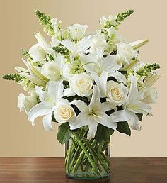 Send a vibrant bouquet of bright flowers like hot pink roses, orange lilies, and yellow sunflowers with our Florist Delivered Floral Embrace bouquet from Deliver sentiments of a warm embrace and brighten their day with this beautiful arrangement. 800 Flowers, White Flowers, Beautiful Flowers, White Roses, Glass Flowers, Red Roses, Cake Flowers, Send Flowers, Fresh Flowers Online