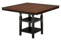 Black/Brown Owingsville Counter Height Dining Room Table View 1