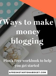 Check out some other ideas: Lots of different ways to make money blogging http://afreshstartonabudget.com/other-ways-to-consider-making-money-blogging/