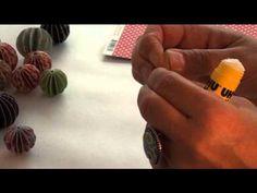 Tuto Boule en Papier - YouTube