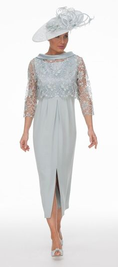 4c24e05be5 Mother of the Bride Groom - Silk Drape Front Dress and Hand Beaded Top -  Joyce Young Collections By Storm