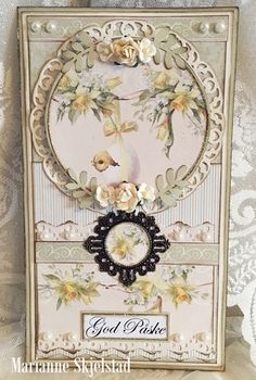 Easter card, the Easter Greetings and Pion Design Palette paper collections