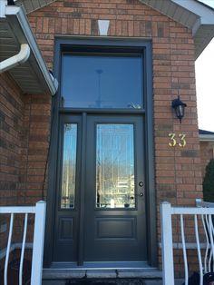 steel Entry Door w/Sidelite and Transom Entry Doors, Garage Doors, Windows, Steel, Outdoor Decor, Home Decor, Front Doors, Homemade Home Decor, Decoration Home