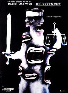 """The Gorgon Case"" (""L'affairs de la Gorgon"") / Poster designed by Jan Lenica Polish Movie Posters, Polish Films, Movie Poster Art, Graphic Design Posters, Graphic Art, Ballet Posters, Pop Art, Cool Posters, Visual Communication"