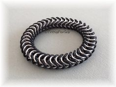 07  Chain Maille Armband  Chainmaille Bracelet von TroisPerles