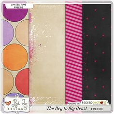 The Key To My Heart paper pack freebie from Red Ivy Design