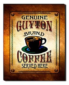 Guyton Brand Coffee Gallery Wrapped Canvas Print ZuWEE…