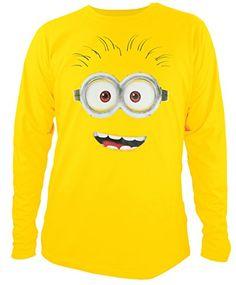 MINIONS - Camiseta - Cuello redondo - Unisex adulto Amarillo Medium #camiseta #friki #moda #regalo
