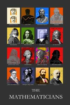 Math posters Famous Mathematicians Math Poster Pictures