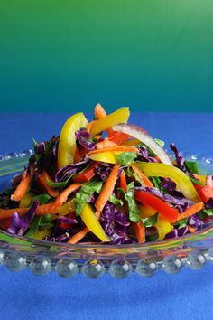 Antioxidant Slaw - brightly colored vegetables provide the most anti-aging & health benefits. Put in one of every color in here for the healthiest salad ever!