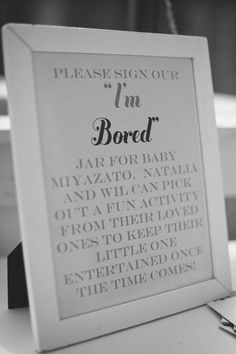 Instructions for the I'm Bored shower activity.