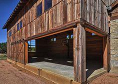 Modern-rustic barn style retreat in Texas Hill Country Rustic Barn, Modern Rustic, Rustic Elegance, Home Gym Design, House Design, Converted Barn, Clerestory Windows, Pole Barn Homes, Spanish House