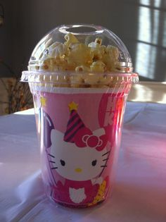 Hello Kitty Party Popcorn/snack Cups  set of 8 by Owlsayit on Etsy, $13.99