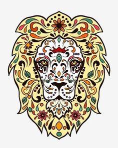 Animal sugar skull tattoo - photo#39