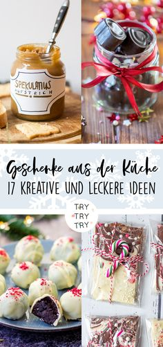 17 Geschenke aus der Küche // Foodgeschenke // Weihnachtsgeschenk // Weihnachtsgeschenke // selbstgemachtes Geschenk // DIY Geschenke // backen, kochen, basteln // Food-Geschenk autour du tissu déco enfant paques bébé déco mariage diy et crochet Diy Food Gifts, Gifts For Cooks, Easy Smoothie Recipes, Easy Smoothies, Handmade Christmas Gifts, Homemade Christmas, Diy Christmas, Homemade Baby Foods, Homemade Gifts