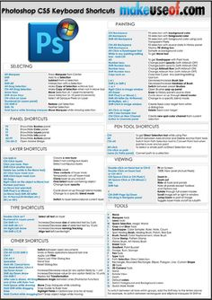 Photoshop CS5 CheatSheet