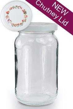 glass jar with white chutney lid