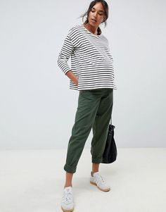 Browse online for the newest ASOS DESIGN Maternity slim leg combat pants in khaki with under the bump waistband styles. Shop easier with ASOS' multiple payments and return options (Ts&Cs apply). Cute Maternity Outfits, Asos Maternity, Stylish Maternity, Pregnancy Outfits, Maternity Fashion, Maternity Style, Pyjamas, Drop Crotch Jeans, Looks Jeans